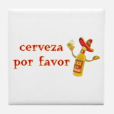 Cerveza Por Favor @Scott Designs Tile Coaster
