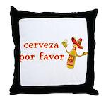 Cerveza Por Favor @Scott Designs Throw Pillow