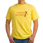 Cerveza Por Favor @Scott Designs Yellow T-Shirt