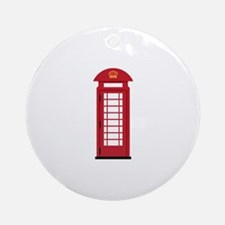 Telephone Booth Ornament (Round)