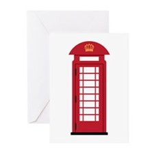 Telephone Booth Greeting Cards
