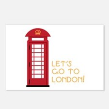 Lets go to london Postcards (Package of 8)