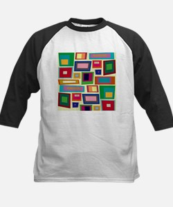Colorful Square Mid Century Modern Baseball Jersey