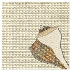 Stitched Faux Fabric Whelk Seashell  Poster