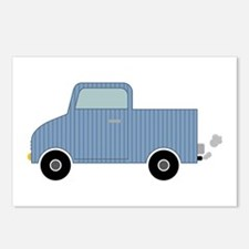 Striped Pick-Up Truck Postcards (Package of 8)