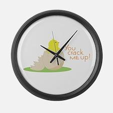 You crack em up Large Wall Clock