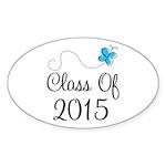 2015 High School Graduation Sticker (Oval 10 pk)