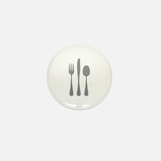 Fork Knife Spoon Mini Button