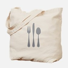 Fork Knife Spoon Tote Bag
