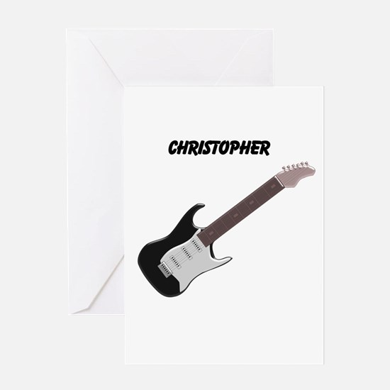 Electric Guitar Greeting Cards