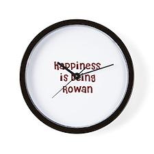 happiness is being Rowan Wall Clock