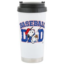Snoopy Baseball Dad Travel Mug