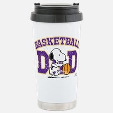 Snoopy Basketball Dad Stainless Steel Travel Mug