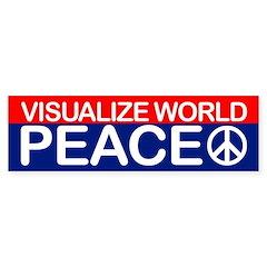 VISUALIZE WORLD PEACE Bumper Bumper Sticker