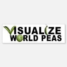VISUALIZE WORLD PEAS Bumper Bumper Bumper Sticker