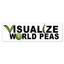 VISUALIZE WORLD PEAS Bumper Car Sticker