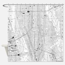 Vintage Map of New York City (1911) Shower Curtain