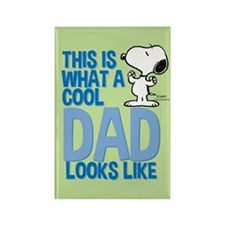 Snoopy Cool Dad Rectangle Magnet