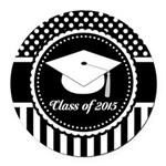 Graduation Class of 2015 Gift Round Car Magnet