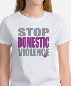 Stop Domestic Violence Women's T-Shirt