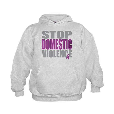 Stop Domestic Violence Kids Hoodie