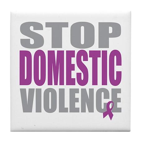 Stop Domestic Violence Tile Coaster