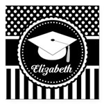 """Graduation Class of 2015 Gift Square Car Magnet 3"""""""