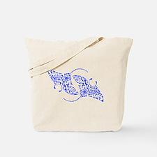 Manta Ray Spiral Tote Bag