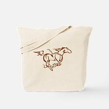Horse running free Tote Bag