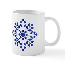 Rose Spray Blue Mug