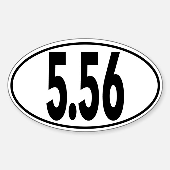 Ar 5.56 Oval Decal