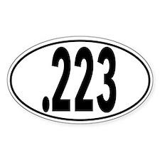 Ar .223 Oval Decal