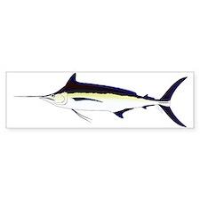 Black Marlin v2 Bumper Bumper Sticker