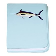 Black Marlin v2 baby blanket