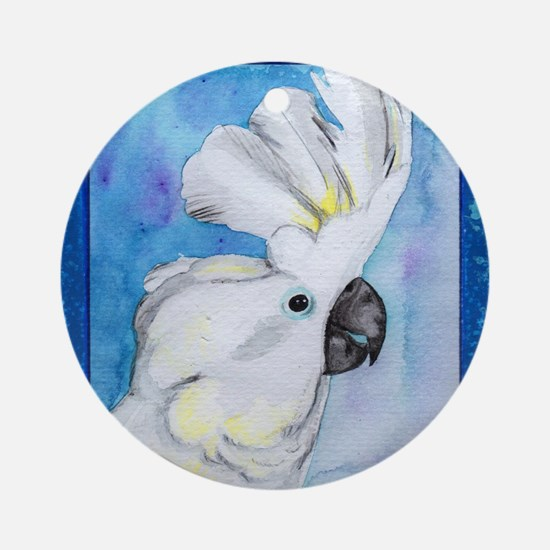 Cute Cockatoos Round Ornament