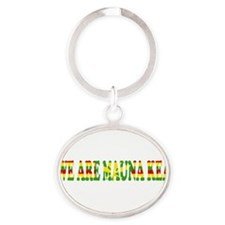 Funny We are Oval Keychain