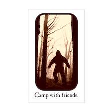 Camp with Bigfoot Rectangle Decal