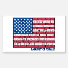 Flag Pledge of Allegiance Rectangle Decal