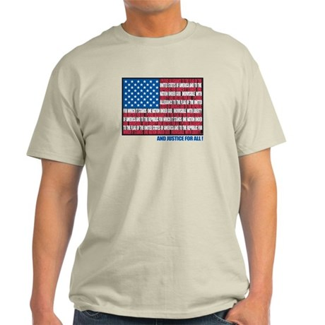 Flag Pledge of Allegiance Light T-Shirt
