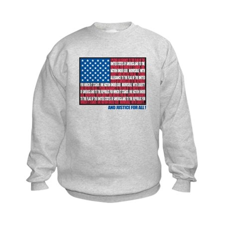 Flag Pledge of Allegiance Kids Sweatshirt