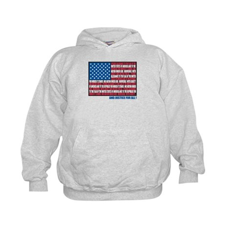 Flag Pledge of Allegiance Kids Hoodie