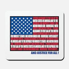 Flag Pledge of Allegiance Mousepad