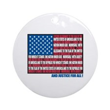 Flag Pledge of Allegiance Ornament (Round)