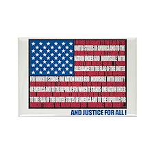 Flag Pledge of Allegiance Rectangle Magnet