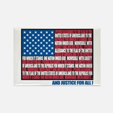 Flag Pledge of Allegiance Rectangle Magnet