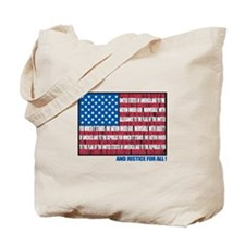 Flag Pledge of Allegiance Tote Bag