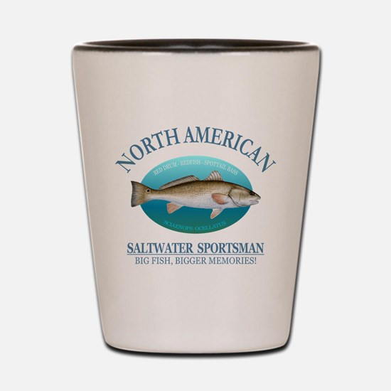 NASM (redfish) Shot Glass