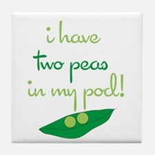 2 Peas in My Pod Tile Coaster