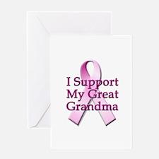 I Support My Great Grandma Greeting Card