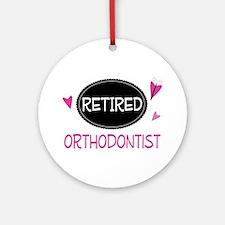 Retired Orthodontist Ornament (Round)